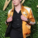 Charlie stole the show in in an eclectic, vintage-inspired Coach mustard yellow satin bomber jacket, paired with skinny black trousers and black shirt at the GQ Men of the Year 2018 Awards. (Photo: WENN)