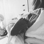 Paul also took to Instagram to share the happy news, posting a cute black and white portrait of his daughter's foot. (Photo: Instagram)