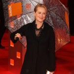 Meryl Streep channeling her inner Mary Poppins as she walked down the red carpet of the BAFTA 2009. (Photo: WENN)