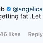 "Cardi lashed out and wrote: ""No, b**** I'm just getting fat. Let me fat in peace."" (Photo: Instagram)"