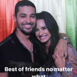 "Las summer, Demi share a photo alongside Wilmer which she captioned ""best friends no matter what."" (Photo: Instagram)"