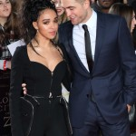"Rob Pattinson starring at her then future wife singer FKA Twigs at the ""Lost City of Z"" premire. (Photo: WENN)"