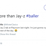 The one thing I'm better at compared to Jay-Z. (Photo: Twitter)