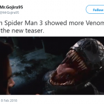 Even Spiderman 3 did a better job in showing Venom—and that's saying A LOT. (Photo: Twitter)
