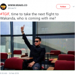 Y'all know Friday means a trip back Wakanda. (Photo: Twitter)