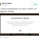No more screenshots of your MCM's stories. (Photo: Twitter)
