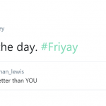 Nobody can be YOU better than YOU—especially on a Friday. (Photo: Twitter)
