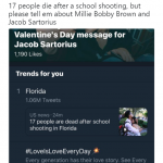 Please, go on, because there's nothing more important than teen love. (Photo: Twitter)