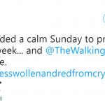 Thanks for wrecking my calm Sunday, TWD. (Photo: Twitter)