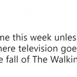 I'll be ranting about The Walking Dead for the next few days. (Photo: Twitter)