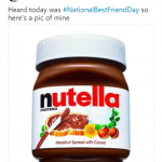 My best friend is Nutella. (Photo: Twitter)