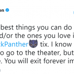 Treat yourself. Go watch Black Panther. (Photo: Twitter)
