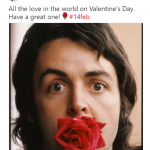 All you need is Paul McCartney to be your valentine. (Photo: Twitter)