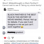 Black Panther is the absolute best and it not up for debate. (Photo: Twitter)