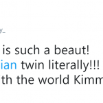 Thanks for gifting the world with this picture, Kim! (Photo: Twitter)