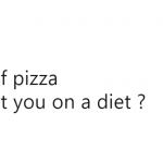 My relationship with pizza is off limits. Bite me. (Photo: Twitter)