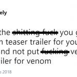 No Venom in the Venom trailer makes no sense. (Photo: Twitter)