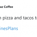 I'll be needing the entire Pizza Hut and Taco Bell menu. (Photo: Twitter)