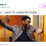 I ain't coming back from Wakanda. (Photo: Twitter)