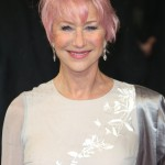Dame Helen Mirren proved pink hair knows no age at the 2013 BAFTA Awards red carpet. (Photo: WENN)