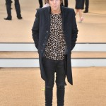 Styles was front row for the Burberry Prorsum 2013 show looking fabulously feline in a cheetah print shirt, pea coat and ripped black jeans. (Photo: WENN)