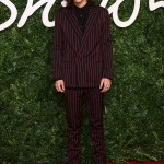 Harry Style showcased his style credentials at the 2014 British Fashion Awards, rocking a two-piece striped Lanvin suit. (Photo: WENN)