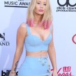 Iggy Azalea and her pink ends made quite an entrance at the 2015 Billboard Awards. (Photo: WENN)