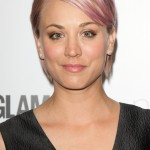 Kaley Cuoco went for a blush toned pixie cut at the Glamour Magazine Women of The Year Awards in 2015. (Photo: WENN)