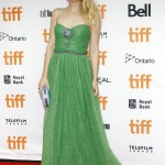 "Dakota dazzled literally and figuratively at the TIFF premiere of ""American Pastoral"" in a glistening emerald gown by Gucci. (Photo: WENN)"
