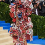 RiRi showed up to the 2017 Met Gala completely embodying the night's theme wearing a Commes des Garçons avant-garde look, created by the Japanese designer Rei Kawakubo. (Photo: WENN)