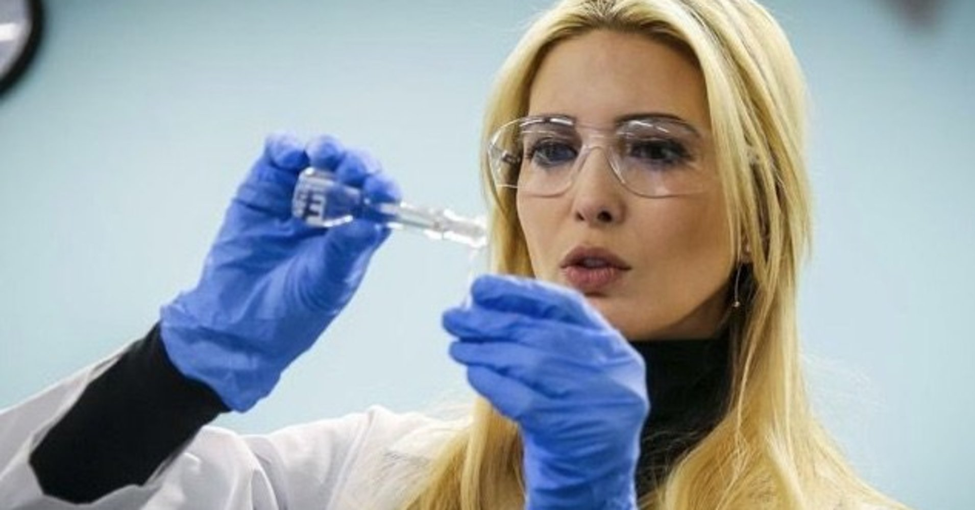 Ivanka Trump cosplaying as a scientist has instantly became Twitter's new favorite meme! (Photo: Twitter)