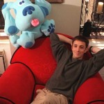 """No, he won't be a part of Blue's Clues reboot. But he was just as excited, or shall we say shocked, as we were. """"… hold my beer"""" he captioned a screenshot he shared on his Instagram about the news. (Photo: Instagram)"""
