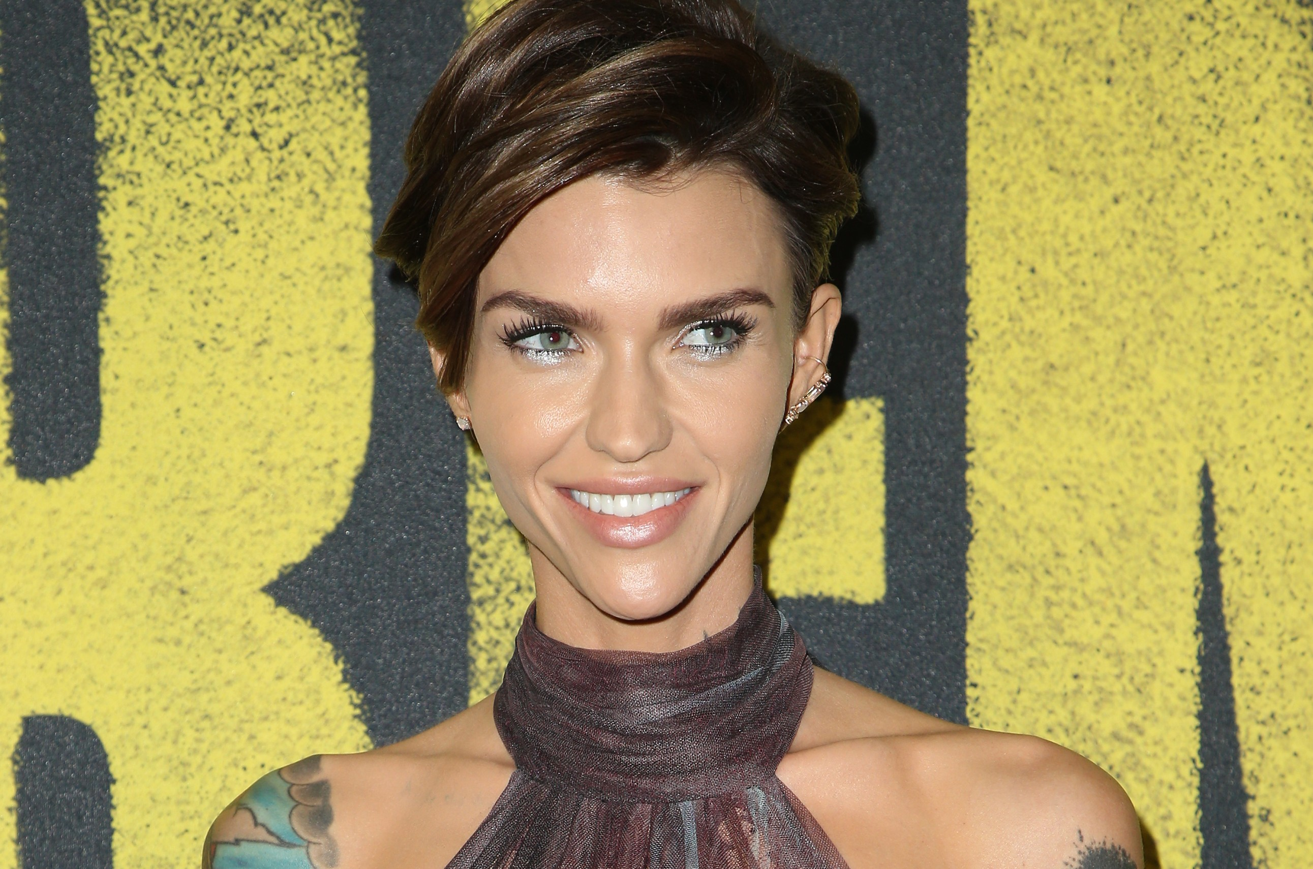 Don't be afraid to join the bandwagon and flip through our photo gallery to learn 15 fun facts about the life and career of the sexy and androgynous Ruby Rose! (Photo: WENN)