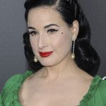 Dita Von Teese wanted a mole to ooze retro glamour so much—she got it permanently inked on! (Photo: WENN)