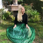 Tori Spelling matched her lipstick to her skirt (or the other way around) for a very appropriate St. Patty's outfit. (Photo: Instagram)