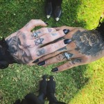 Last month, Kat Von D shocked her follower after revealing she had married lead singer for the band Prayers, musician Rafael Reyes, who also goes by the name Leafer Seyer, in a private ceremony. (Photo: Instagram)