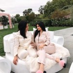 Kylie Jenner and her guests all wore pink silk pajamas to celebrate a quiet but star-studded baby shower ahead of the arrival of baby Stormi. (Photo: Instagram)