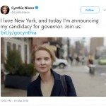The actress made the announcement via Twitter on Monday, along with a video explaining the intentions of her candidacy. (Photo: Twitter)