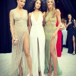 The beautiful Adriana Lima, Shanina Shaik and Heidi Klum turned the Oscars red carpet into their own personal catwalk. (Photo: Instagram)