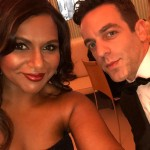 A little Office reunion. Mindy Kaling and B.J. Novak taking a selfie at the 2018 Oscars. (Photo: Instagram)