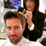 Armie Hammer getting ready for his big night at the Oscars 2018. (Photo: Instagram)