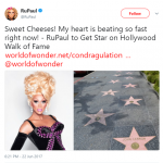 Ru celebrated the news on Twitter last year, when it was originally announced. (Photo: Twitter)
