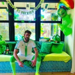 Liam Hemsworth joined Miley on her St. Patrick's Day celebration with this unique outfit and décor. (Photo: Instagram)