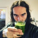 Russell Brand started off St. Patrick's Day with a very suiting green juice. (Photo: Instagram)