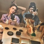 A mirror selfie with his momma Victoria Beckham as she is getting glammed up. (Photo: Instagram)