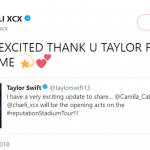 Charli XCX also took to Twitter to share her excitement with her followers. (Photo: Twitter)