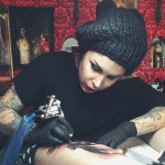 She was an early bloomer! Kat first started tattooing when she was 14. Two years later she was already working in a professional shop. (Photo: Instagram)