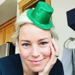 Elizabeth Banks didn't really go big with her St. Patrick's Day celebration this year. (Photo: Instagram)