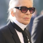 Karl Lagerfeld himself has admitted that he looks better wearing dark glasses than not. No wonder why he rarely poses for pictures without his signature shades! (Photo: WENN)