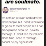 And like if that wasn't enough, the model also quoted a tweet by Denzel Washington on his Instagram Stories that just can't indicate anything good. (Photo: Instagram)